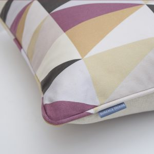 Diamond Print Design Cushion inspired by the tiles of the London Underground Tube Stations.