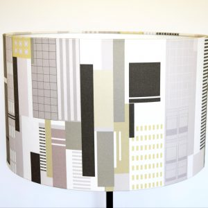 An instant modern update for your house or apartment. Inspired by a New York Cityscape, this lampshade adds a cool, sophisticated drama to your lampstand.