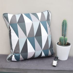 The Emerald Geometric Contemporary Design Cushion is full of drama and luxury. Handmade with care for detail, this is an excellent contemporary home accessory.