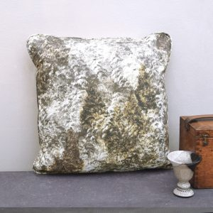 Luxurious, handmade cushion with a gold painted forest. Create a cosy woodland home interior with this striking cushion.