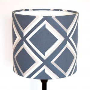 Designer Lampshades collection by Surface House. Browse bold and adventurous home decor accessories with our blue lattice geometric print.