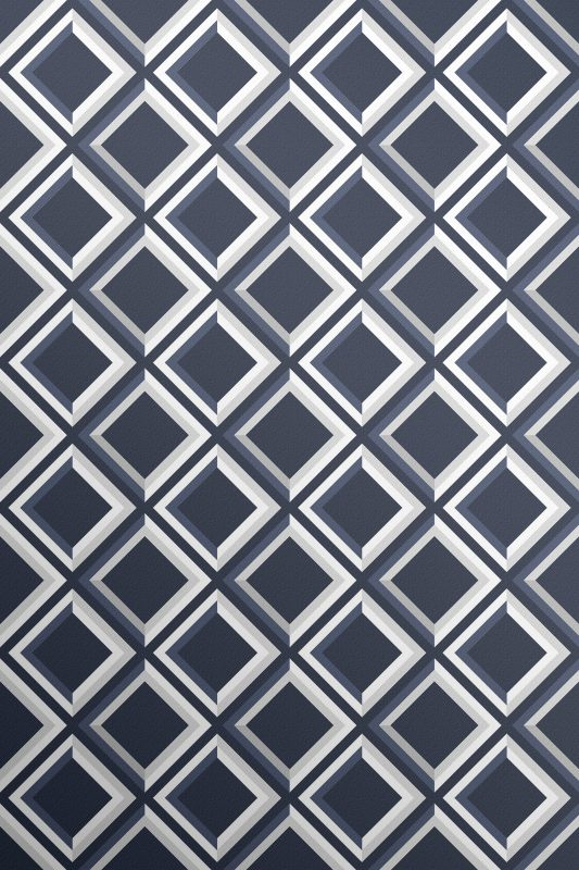 Midnight deep blue wallpaper with grey and white highlights. To create the illusion of a 3d lattice.