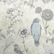 Luxury precious mineral gold BIRD wallpaper. This designer wallpaper with birds and flowers makes a detailed and beautiful feature wall.