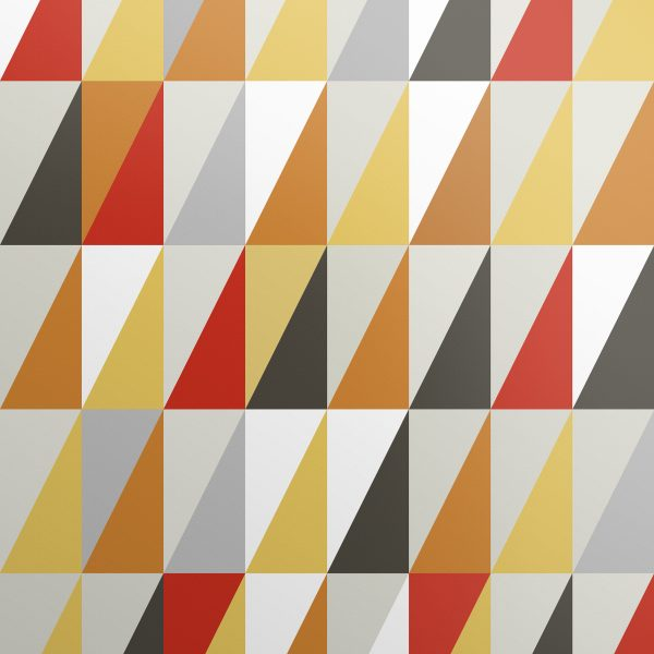 Triangle Wallpaper Bold Jester-Red, Orange Yellow Design