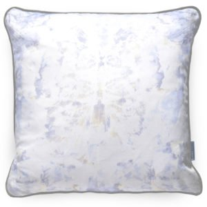 Abstract cushion home accessory. Made from ink drawings. With grey, lilac and white for a beautiful and effortless chic look. Update tired interiors.