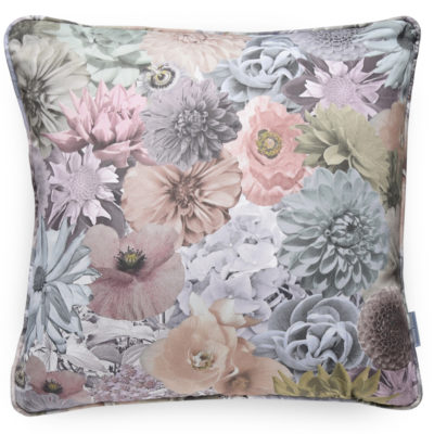 Photographs of real UK grown flowers are collaged together to create a layered and beautiful, striking floral print. The Floral cushion is a contemporary accessory for any home.