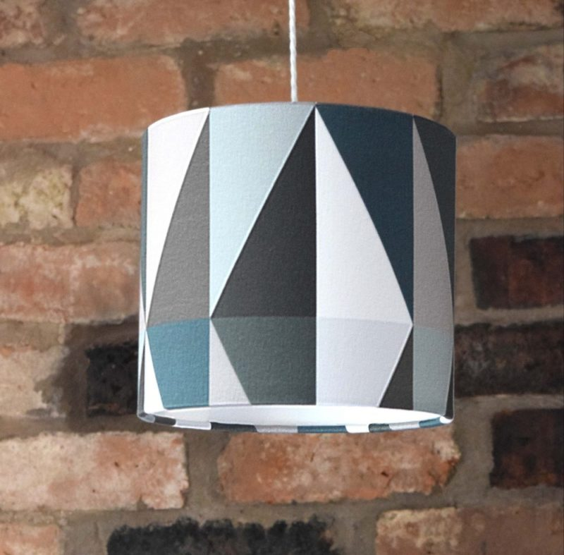 This emerald green lampshade with smoky black and crisp white is perfect for creating a focus feature in your interior design project. Create a dramatic and elegant look.