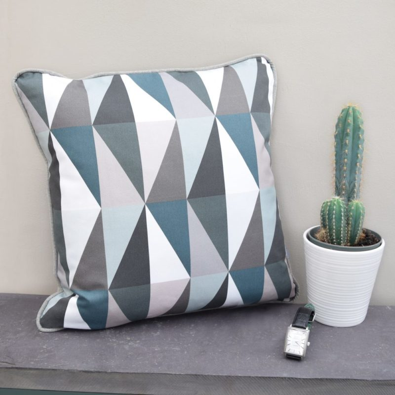 The Emerald Green Cushion has a unique Contemporary geometric design and is full of drama and luxury. Handmade with care for detail, this is an excellent contemporary home accessory.