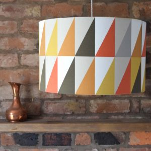 Jester colours inspired our retro lampshade design. A bold pop of colour and style for your contemporary interior.