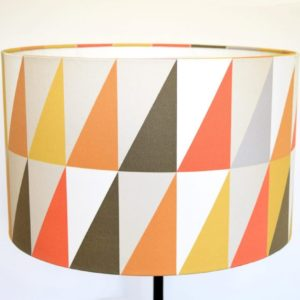 Retro Lampshades UK. Our orla Kiely inspired triangle geometric print is the perfect gift for a lover of all things retro.