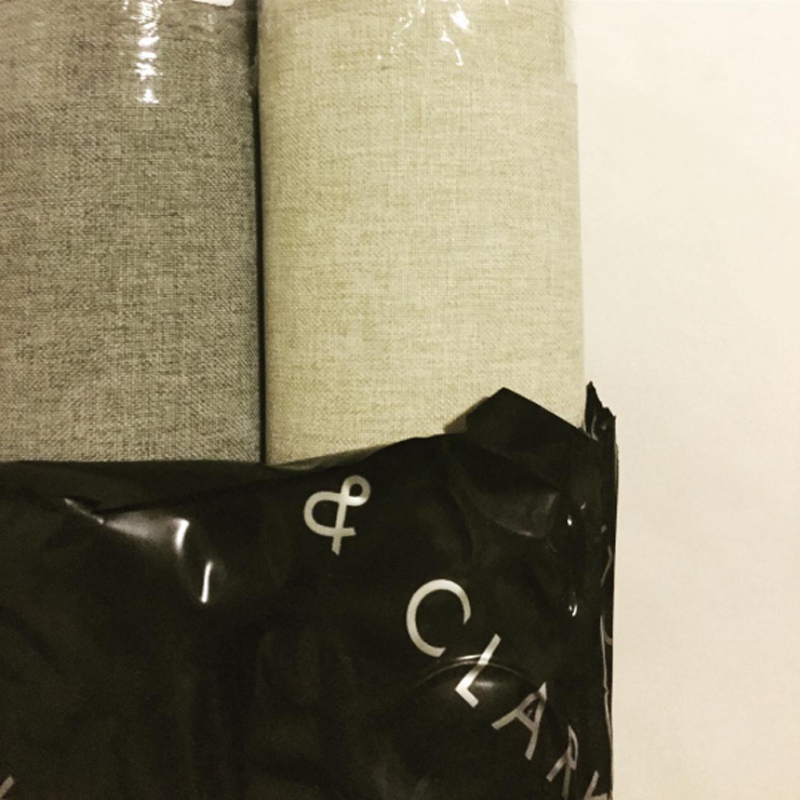 We use a high quality, soft and luxurious fabric for the backing of our cushions made by Clarke and Clarke.