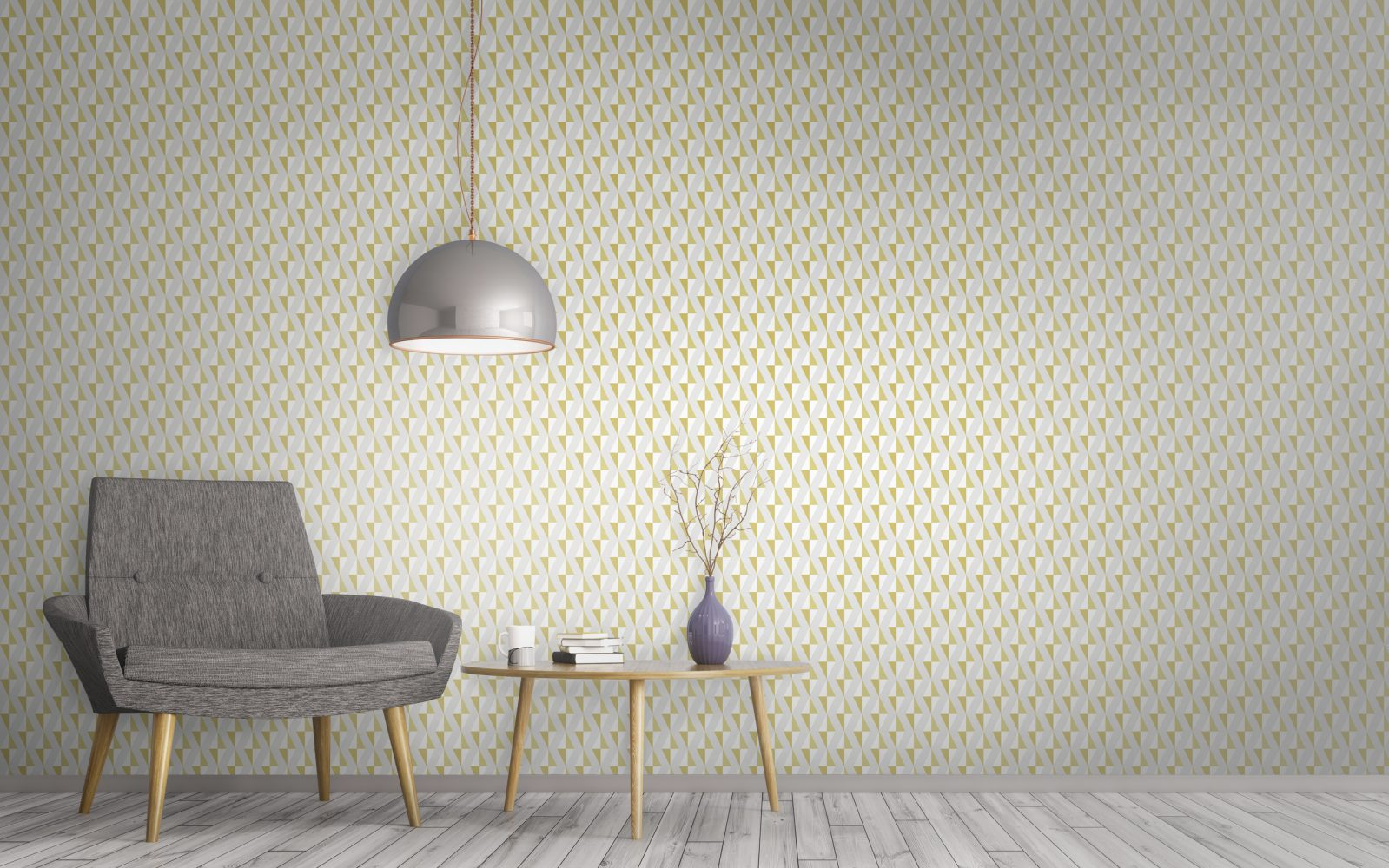 Luxurious Diamond Print Geometric Mustard Wallpaper With Floating Diamond  Print. Surface House Luxury Wallpaper And