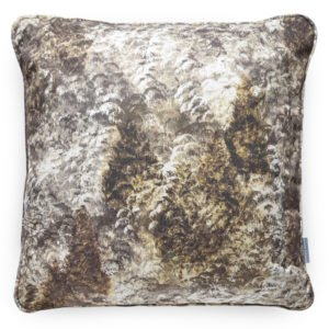 Luxurious, handmade cushion with a gold painted forest. Create a cosy woodland home decor with this striking cushion.
