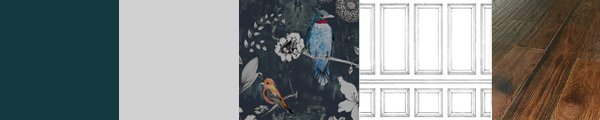 Stunning bold wallpaper for feature walls. Hand drawn birds and flowers in an ornate designer wallpaper. Order a FREE sample to feel the quality.