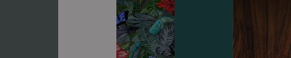 Exciting dark wallpaper for bedrooms, hallways and living rooms. Designer Tropical jungle wallpaper.