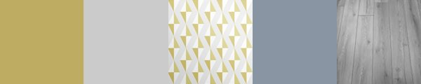 Stunning muted yellow wallpaper with geometric pattern. Update tired rooms with modern fresh designer wallpaper.